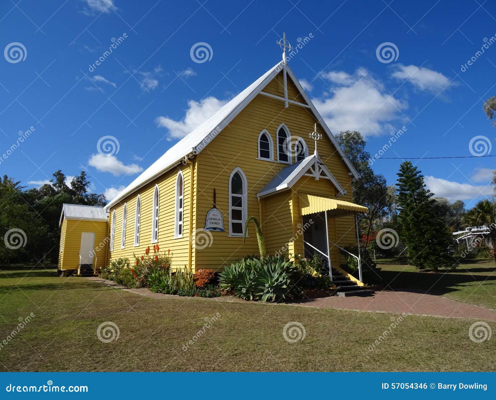 Historische kerk in Klok, Australië
