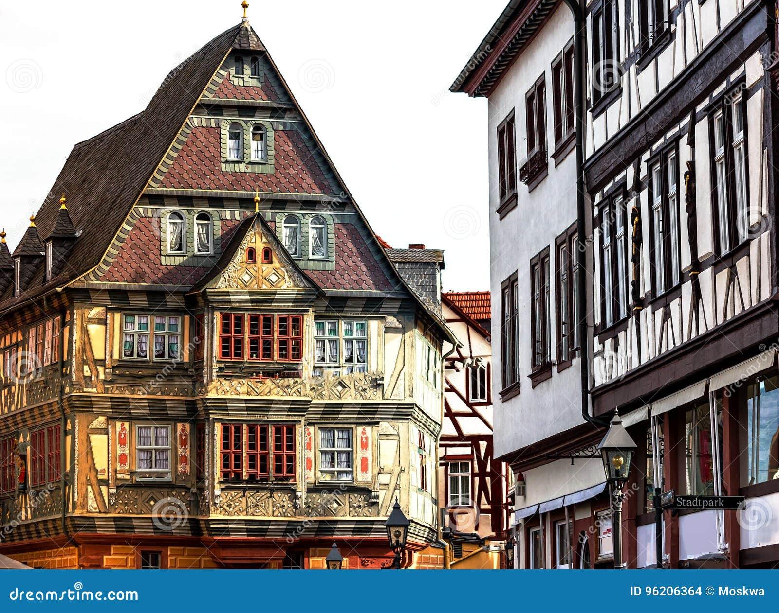 historische mittelalterliche h user in der alten stadt miltenberg deutschland stockfoto bild. Black Bedroom Furniture Sets. Home Design Ideas