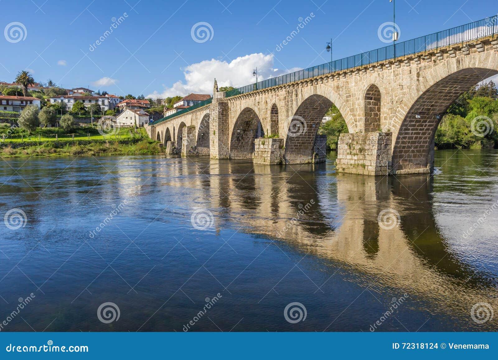 Historische römische Brücke in Ponte DA Barca