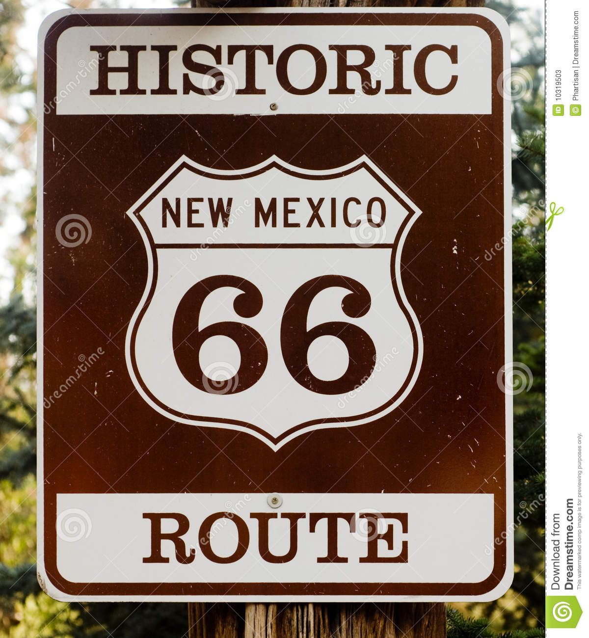 Historische Route 66 in de V.S.