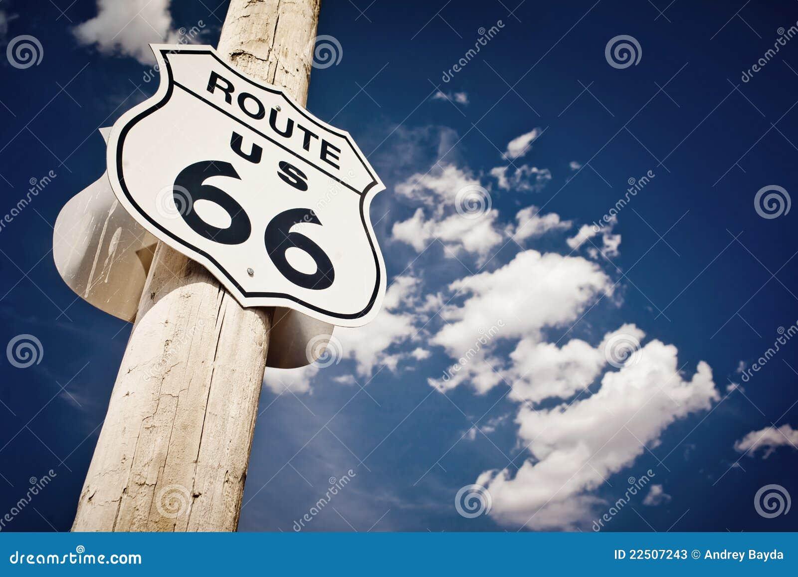 Historische route 66 routeteken