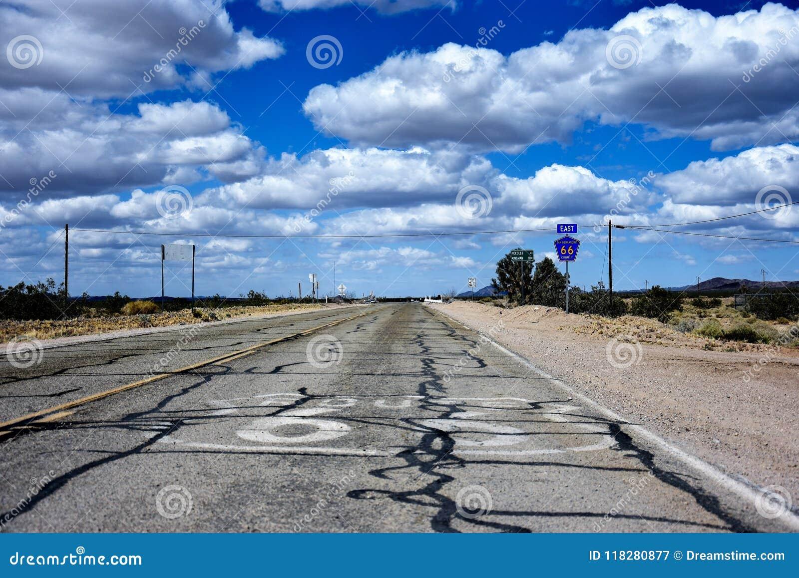 Historische Route 66 -weg in Nevada