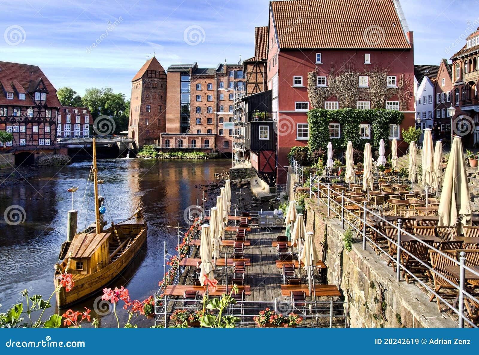 historische stadt von lueneburg deutschland stockbild bild von hamburg tourismus 20242619. Black Bedroom Furniture Sets. Home Design Ideas