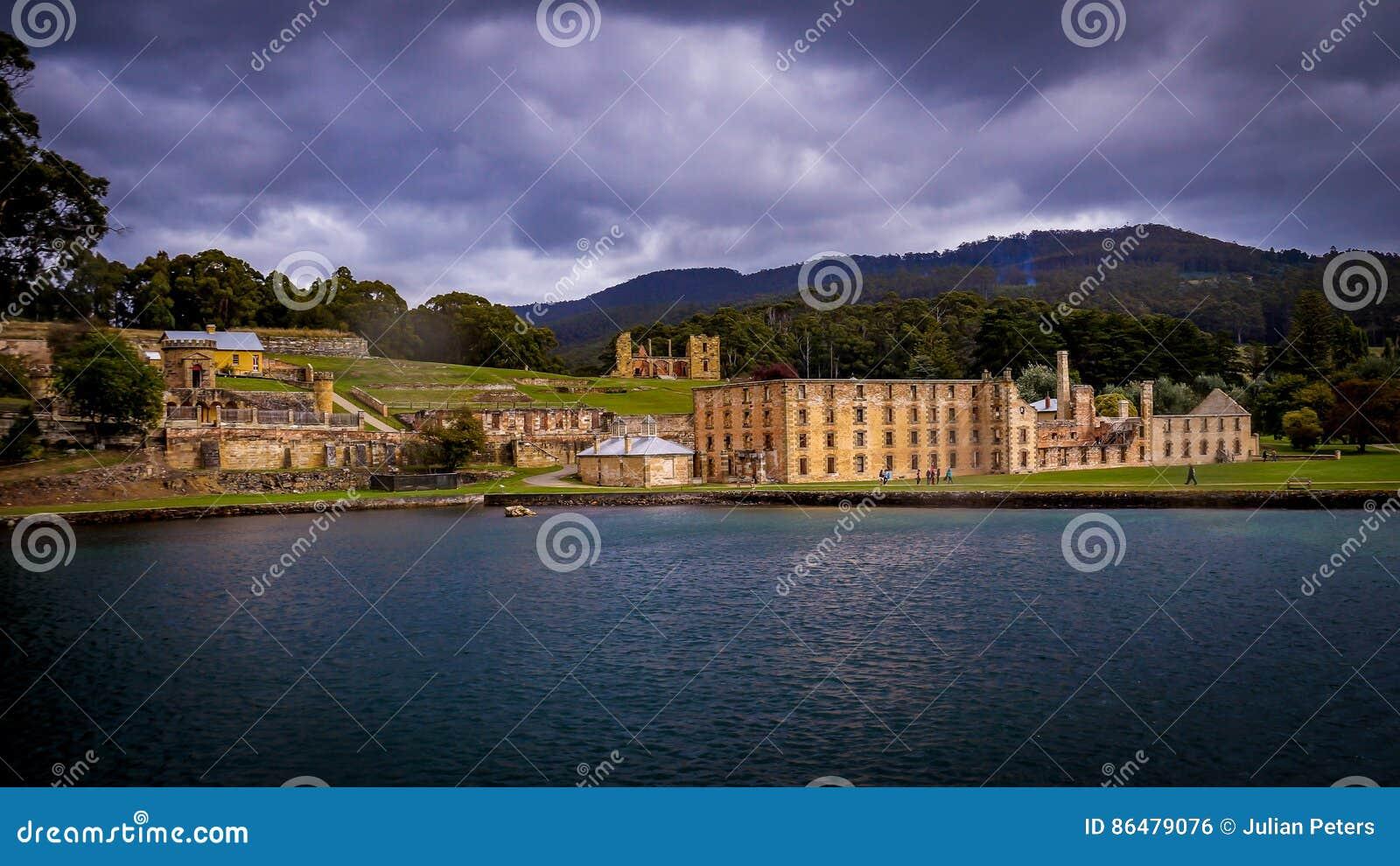 Historische Strafgefangene-Strukturen im Port Arthur, Tasmanien, Australien
