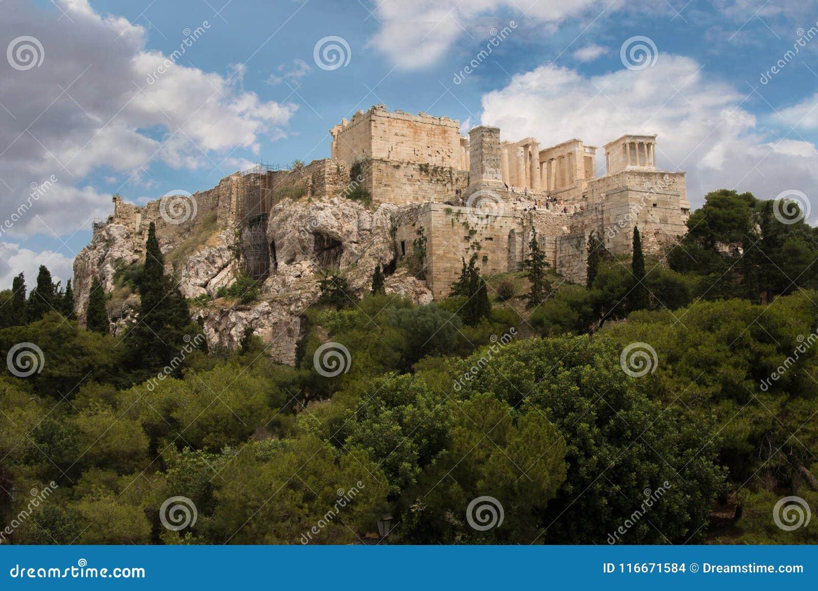 Historische Structuur Parthenon Griekenland