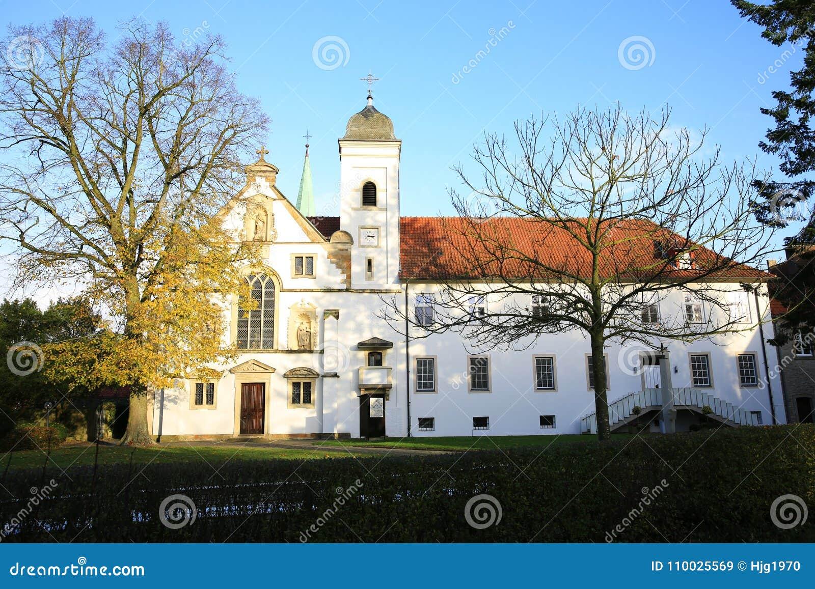 Historische Vinnenberg Monastry dichtbij Warendorf, Noordrijn-Westfalen, Duitsland