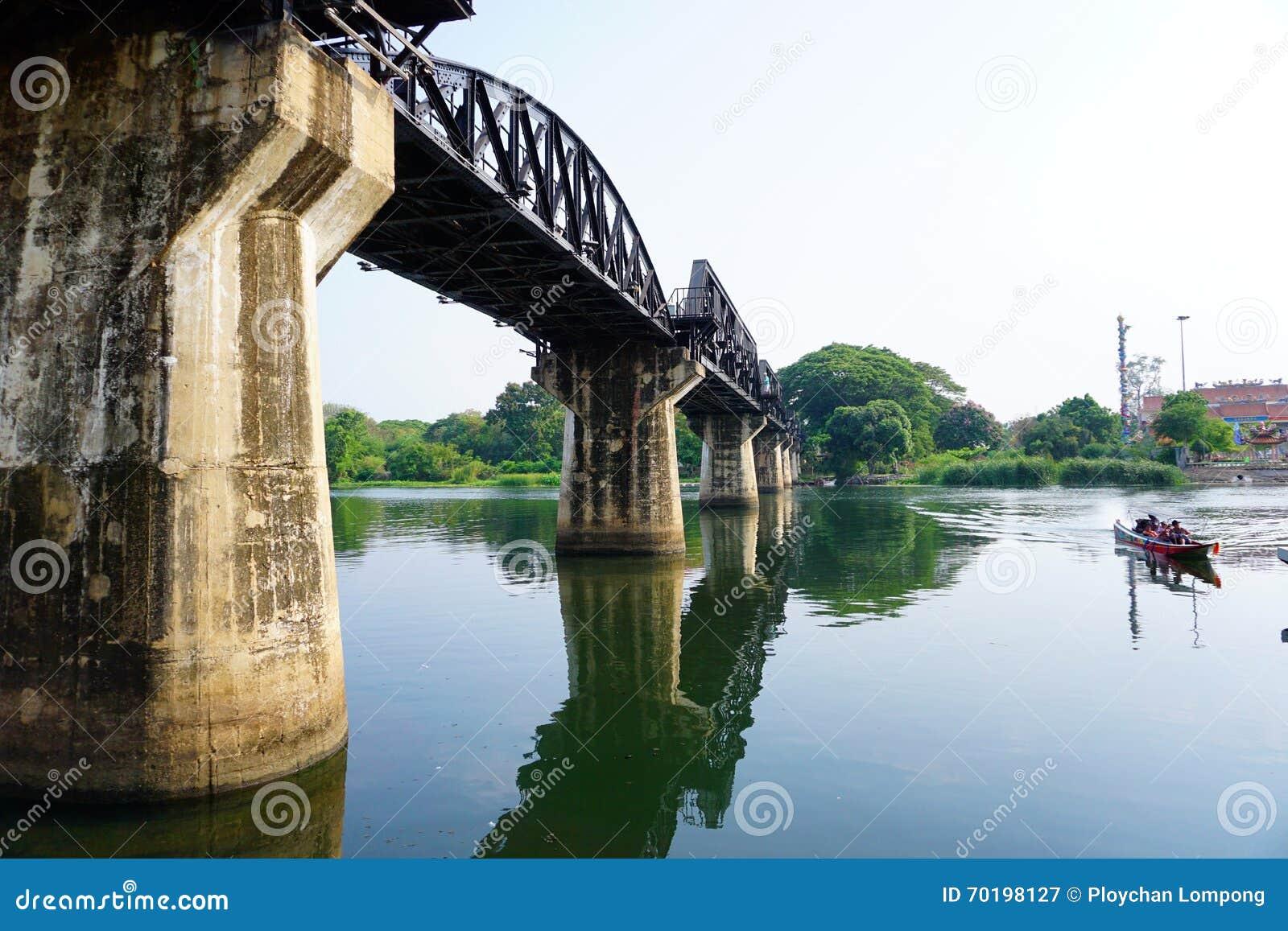 Historisk flodKwai bro