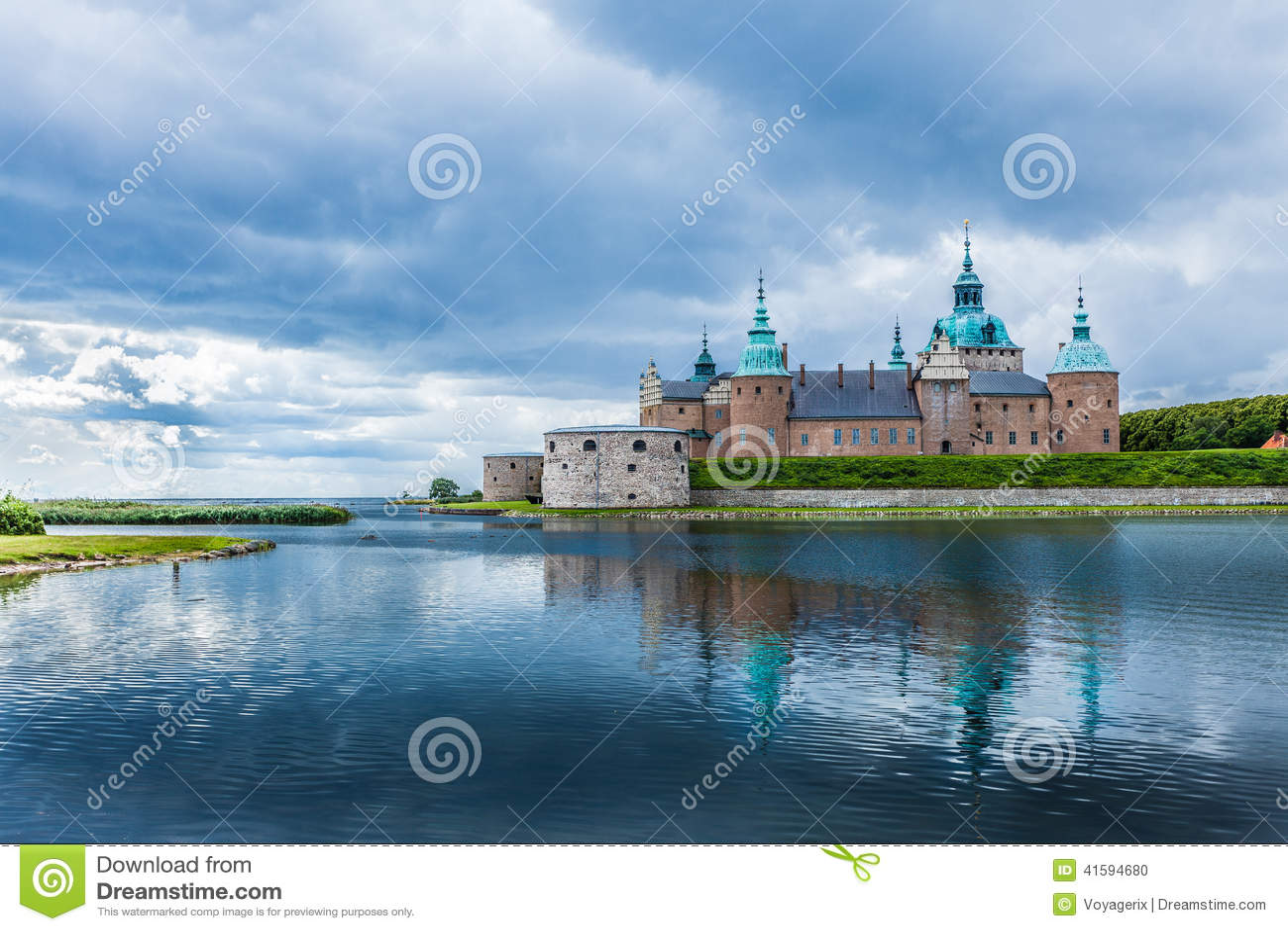 Historisk Kalmar slott i Sverige Skandinavien Europa landmark