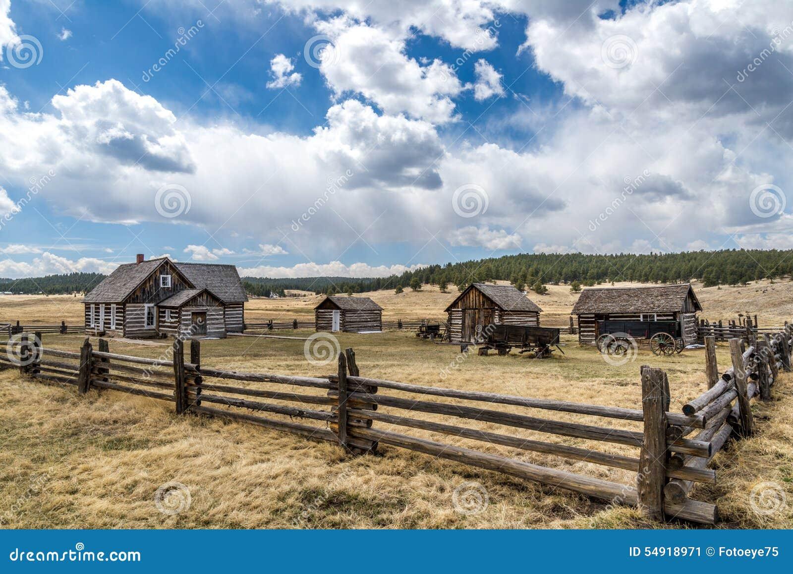 Historisk lantgård för Hornbeck hemmanColorado ranch