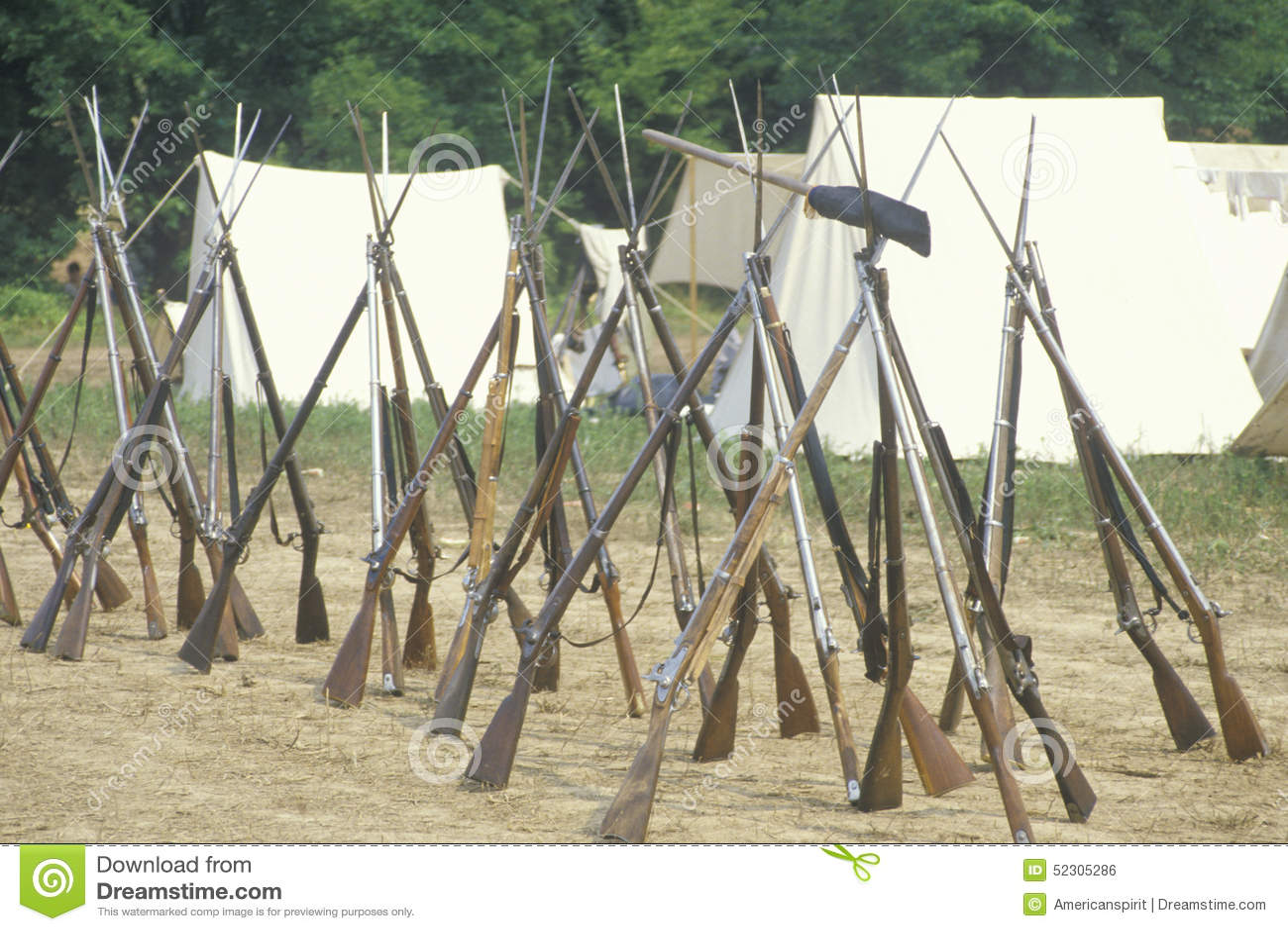 Historisk reenactment av striden av Manassas som markerar början av inbördeskriget, Virginia