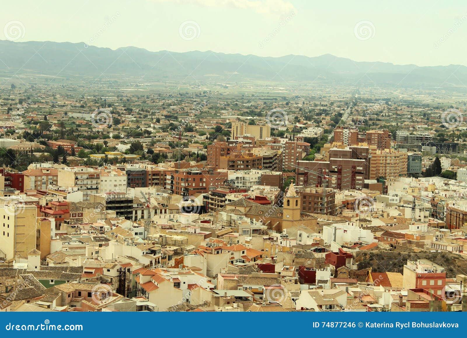 Historisk stad Lorca i Spanien