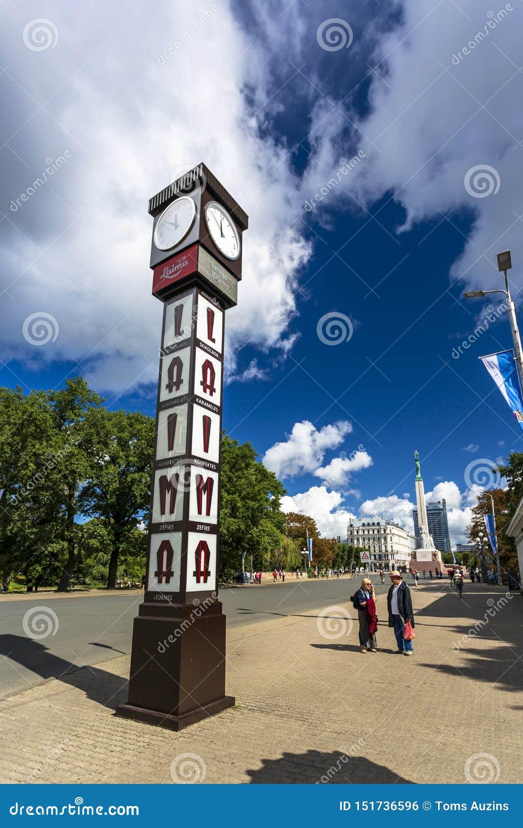 Historiska byggnader i gamla Riga