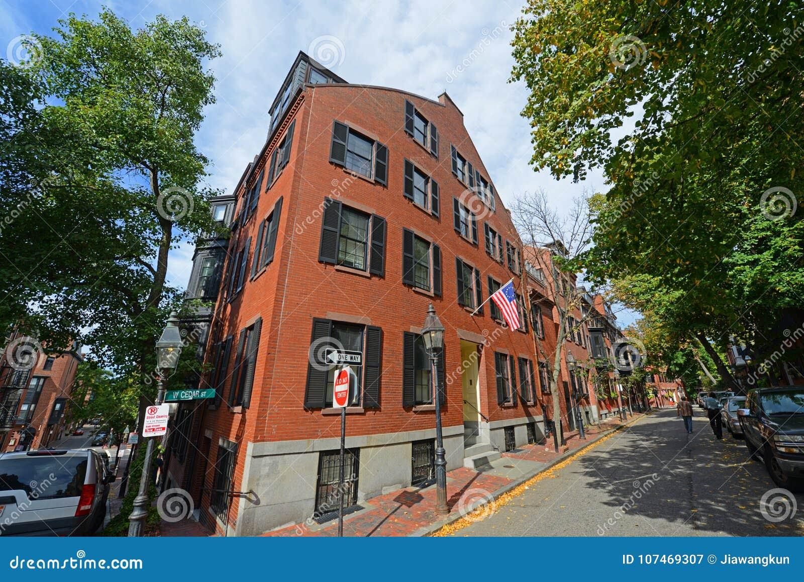 Historiska byggnader på Beacon Hill, Boston, USA