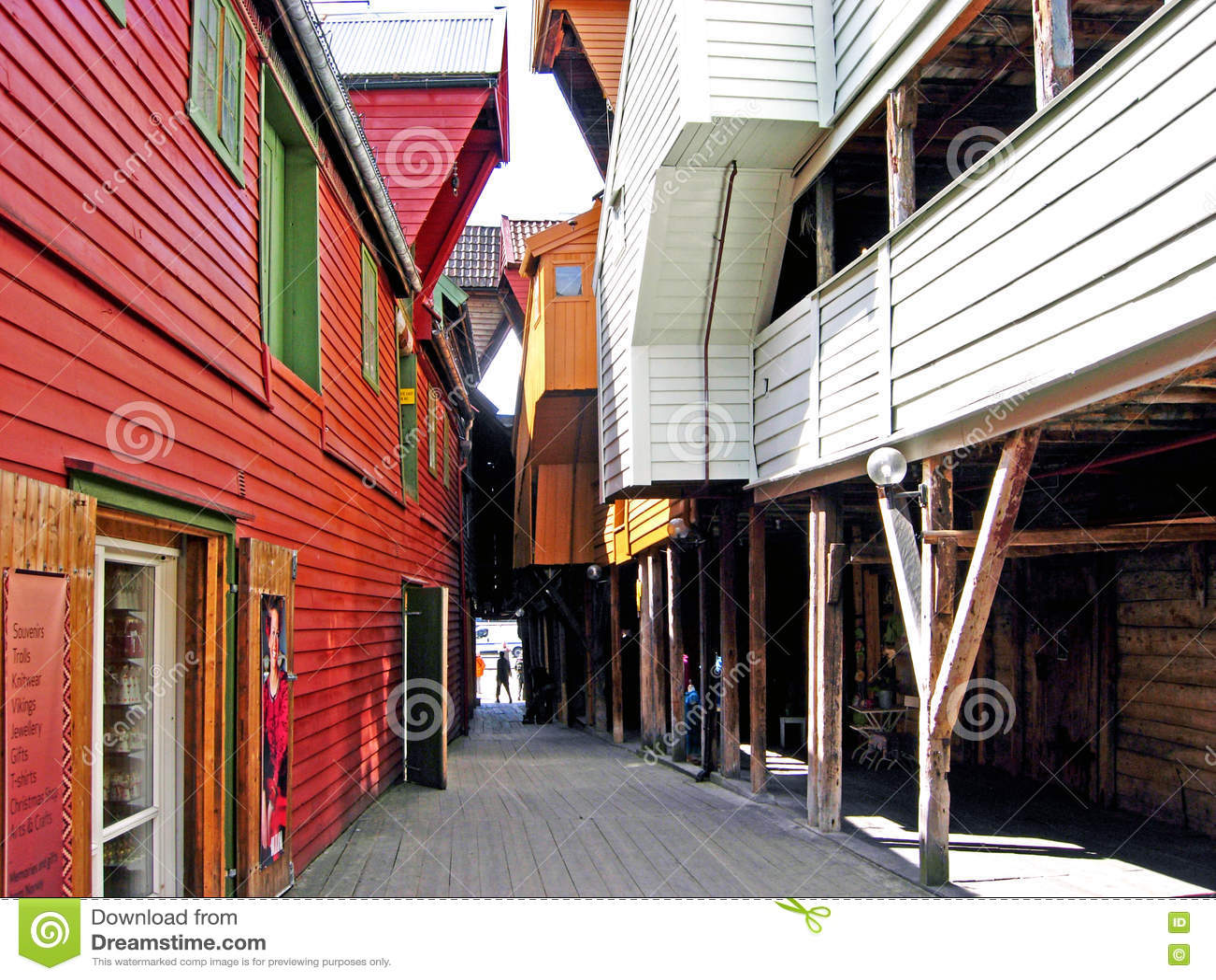 Historiska hus i Bergen (Norge)