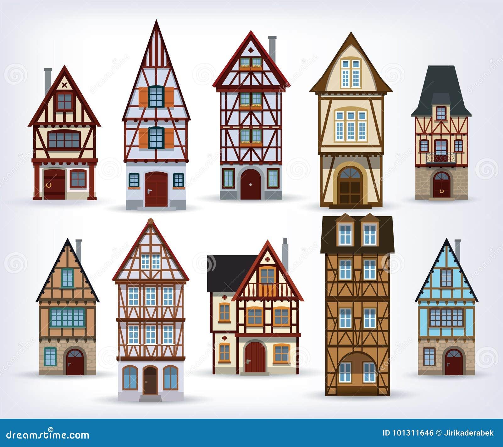Historiska korsvirkes- hus