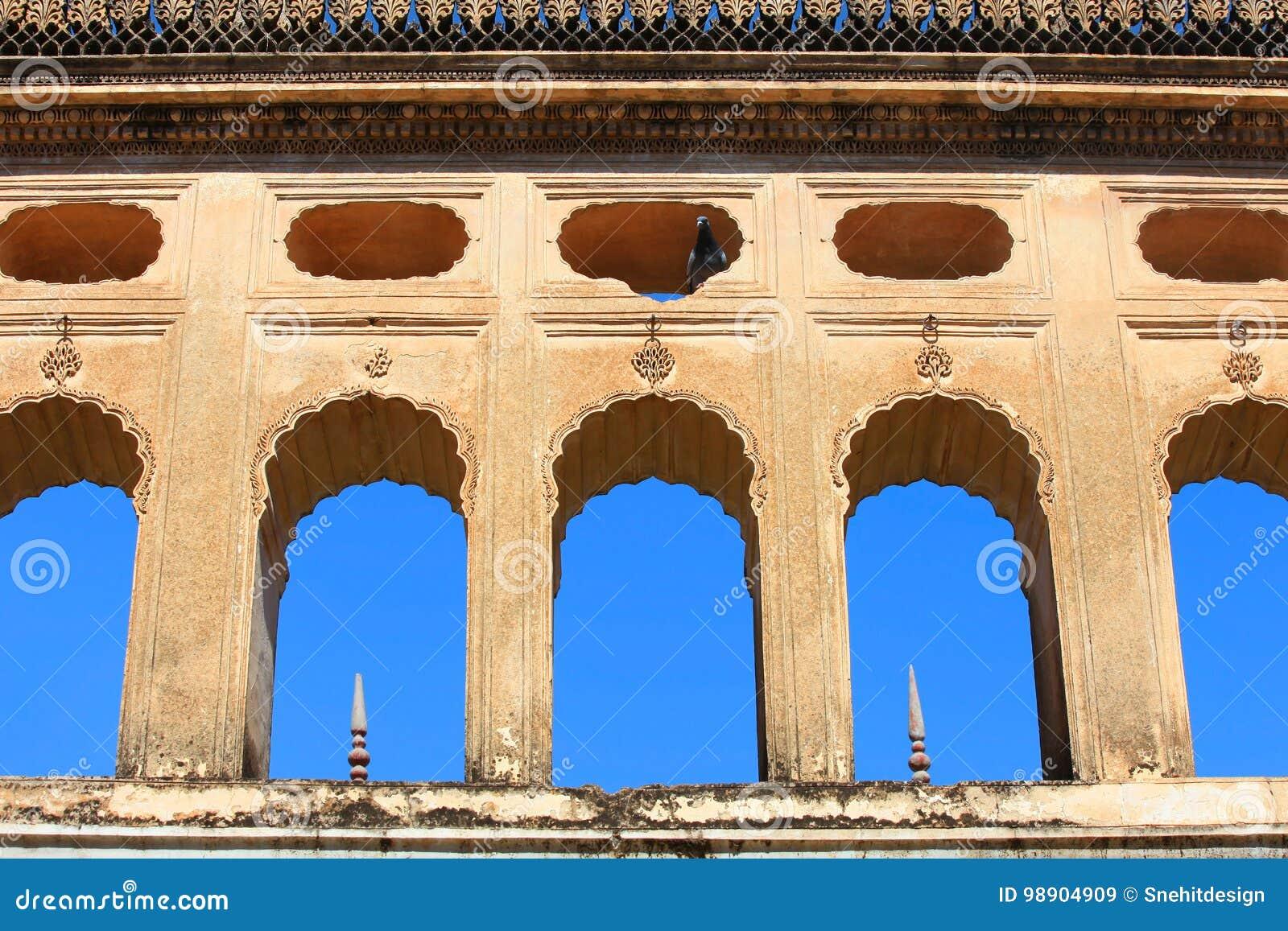Historiska Paigah gravvalv i Hyderabad Indien