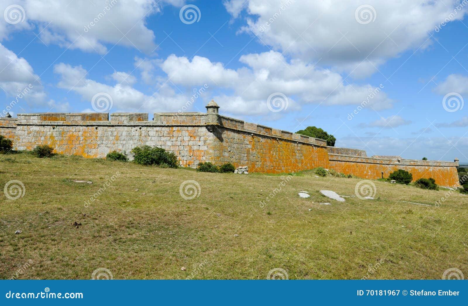 Historiska Santa Teresa Fort på Uruguay