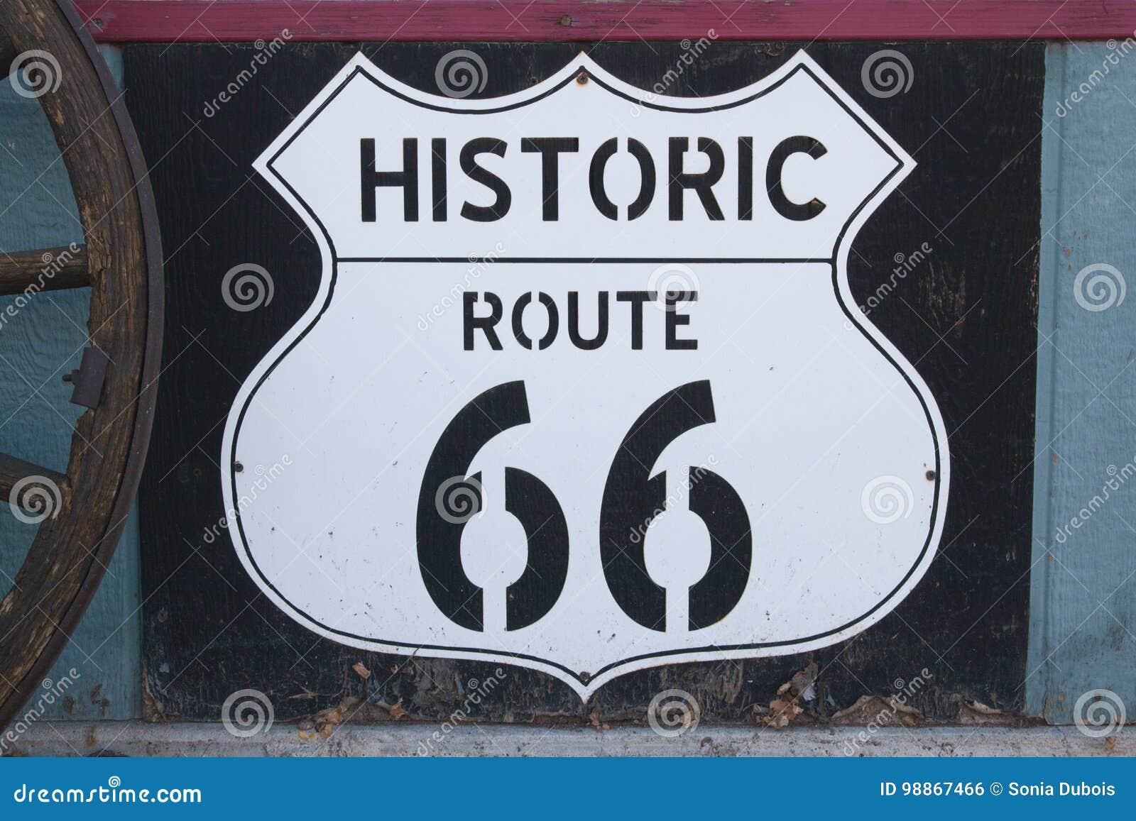 Historiskt tecken för rutt 66
