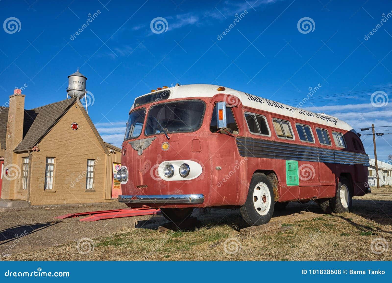 Historiskt turnera bussen av den Bob Wills Texas landssångaren