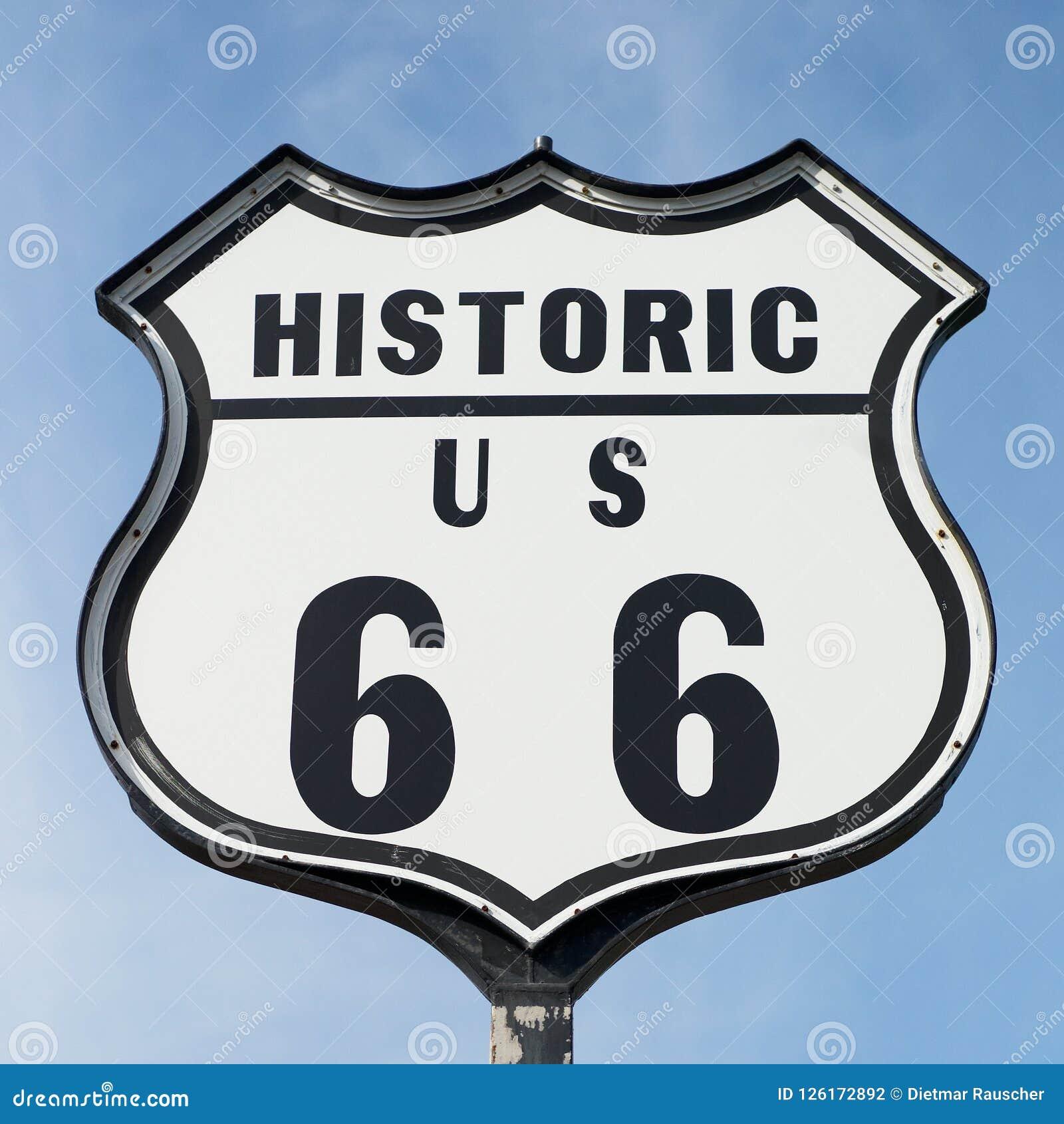 Historiskt vägmärke för Route 66