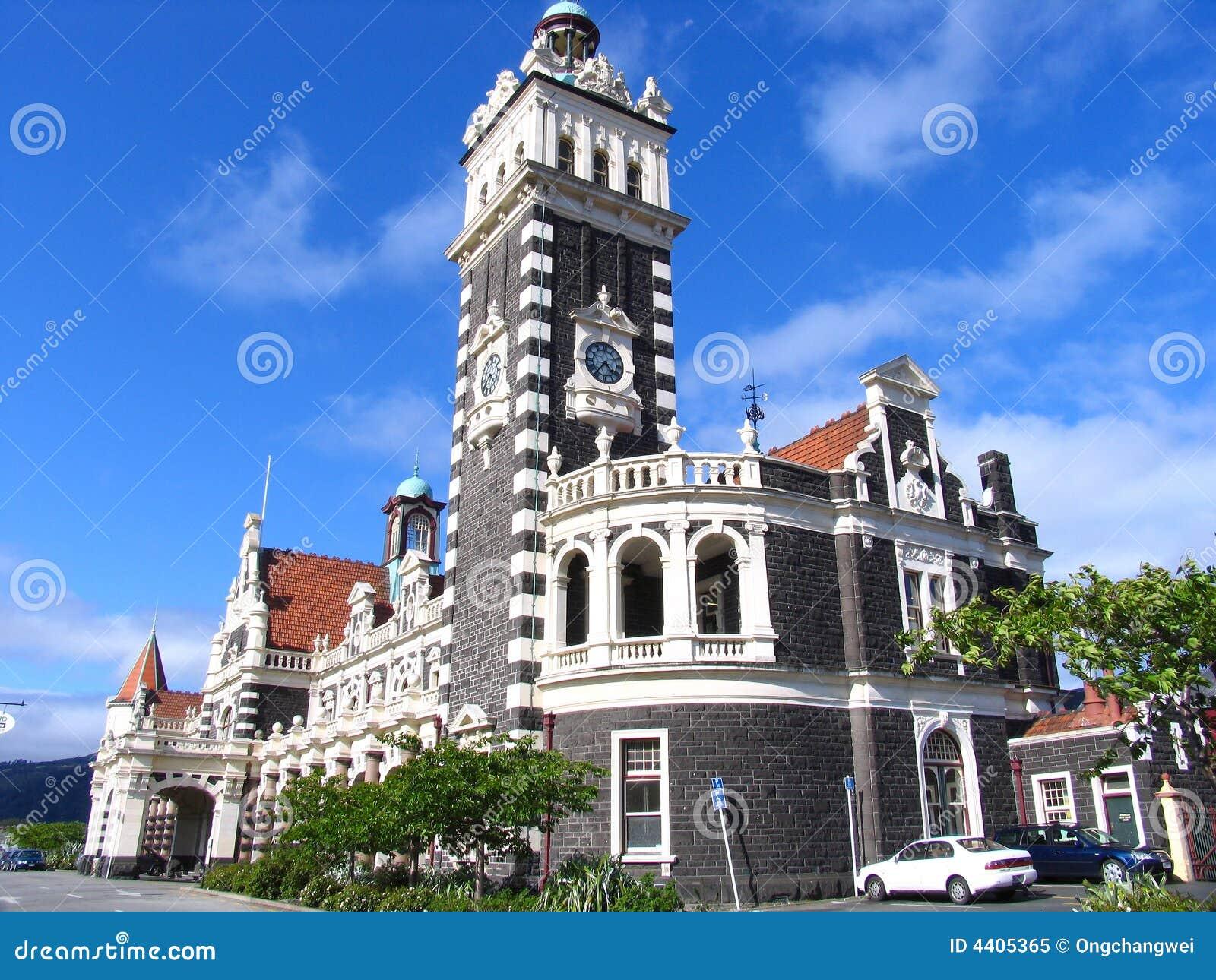 history building in dunedin royalty free stock photo