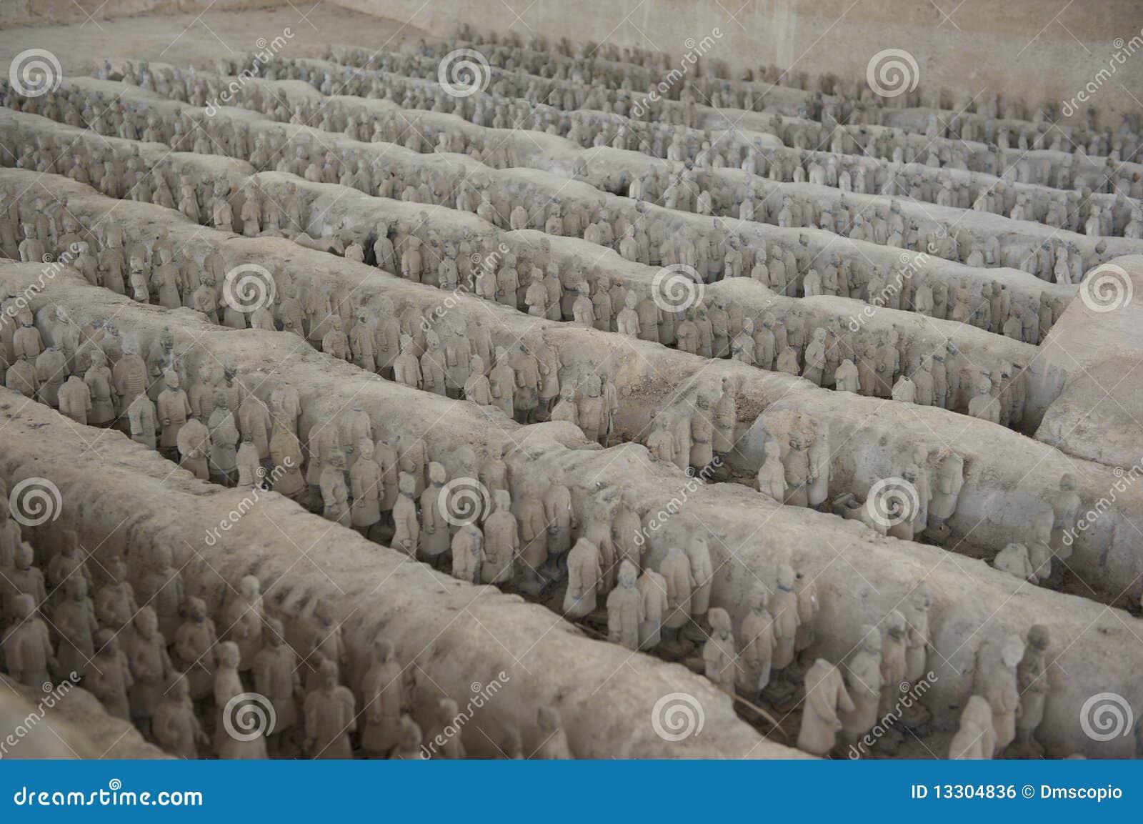 History China miniature terracotta army clay Shenz