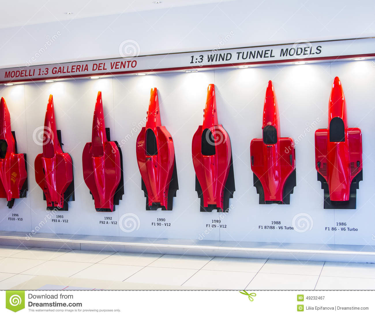 History Of The Evolution Of Forms Of Ferrari Cars At The Booth ...