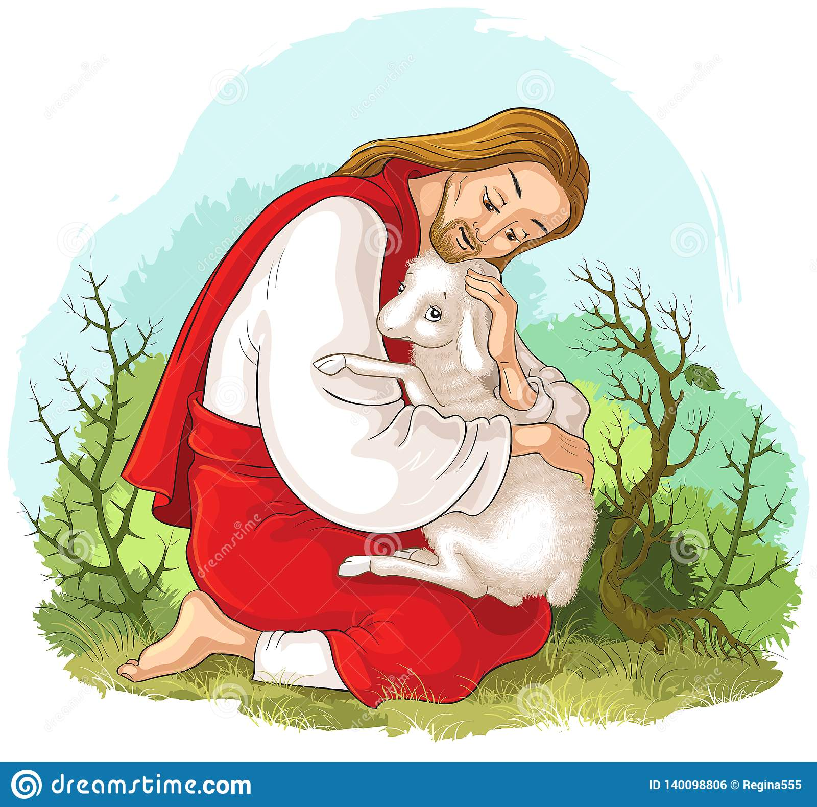 Good Shepherd Picture ❤️+❤️ Jesus Good Shepherd Coloring Page | 1580x1600