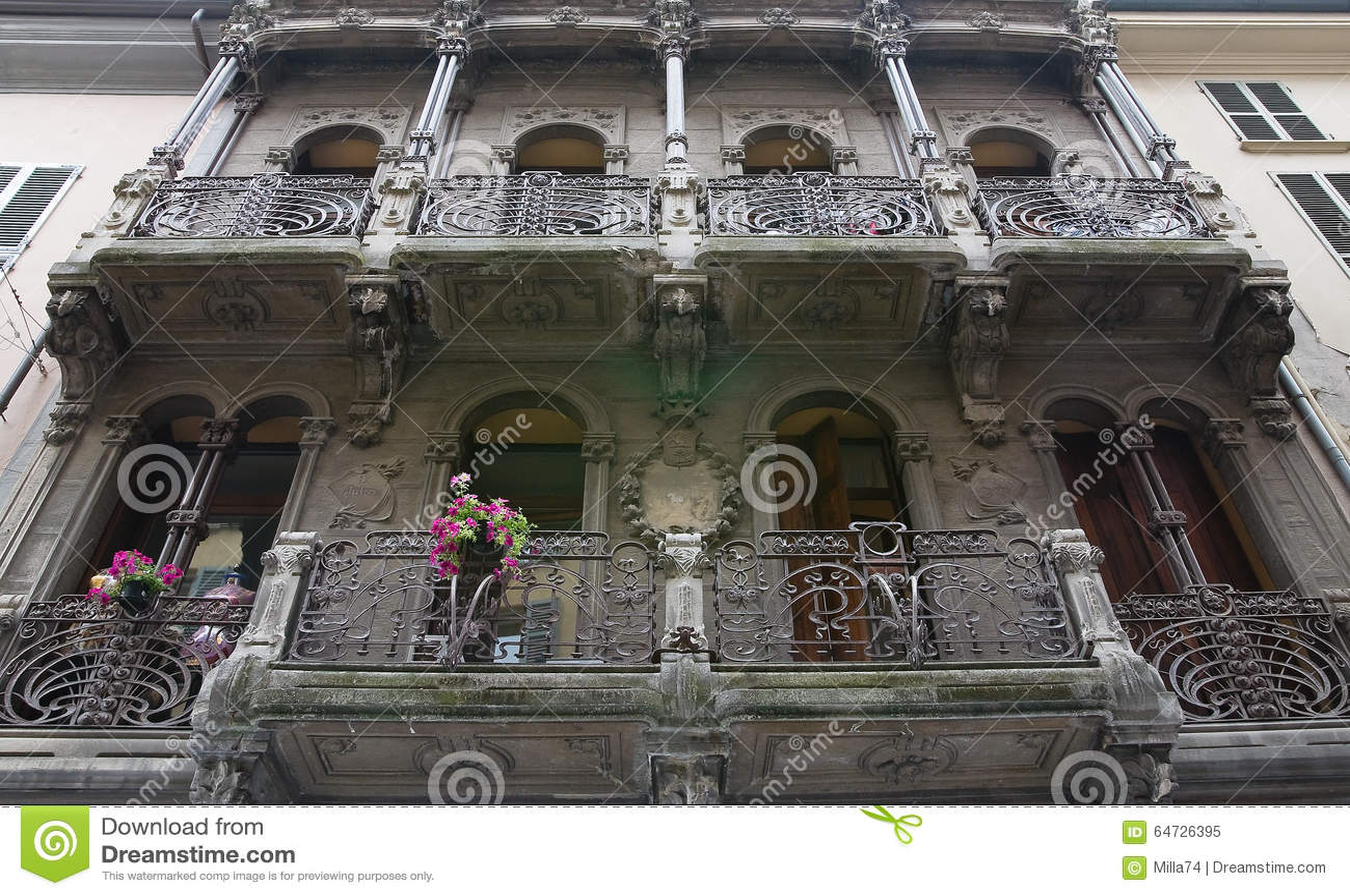 Historyczne pałacu Piacenza emilia Włochy