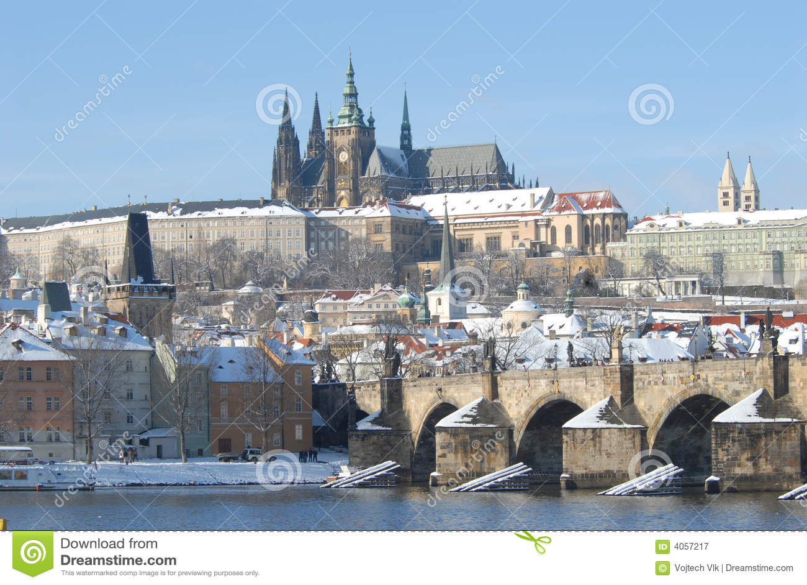 Historycznej Prague zimy.