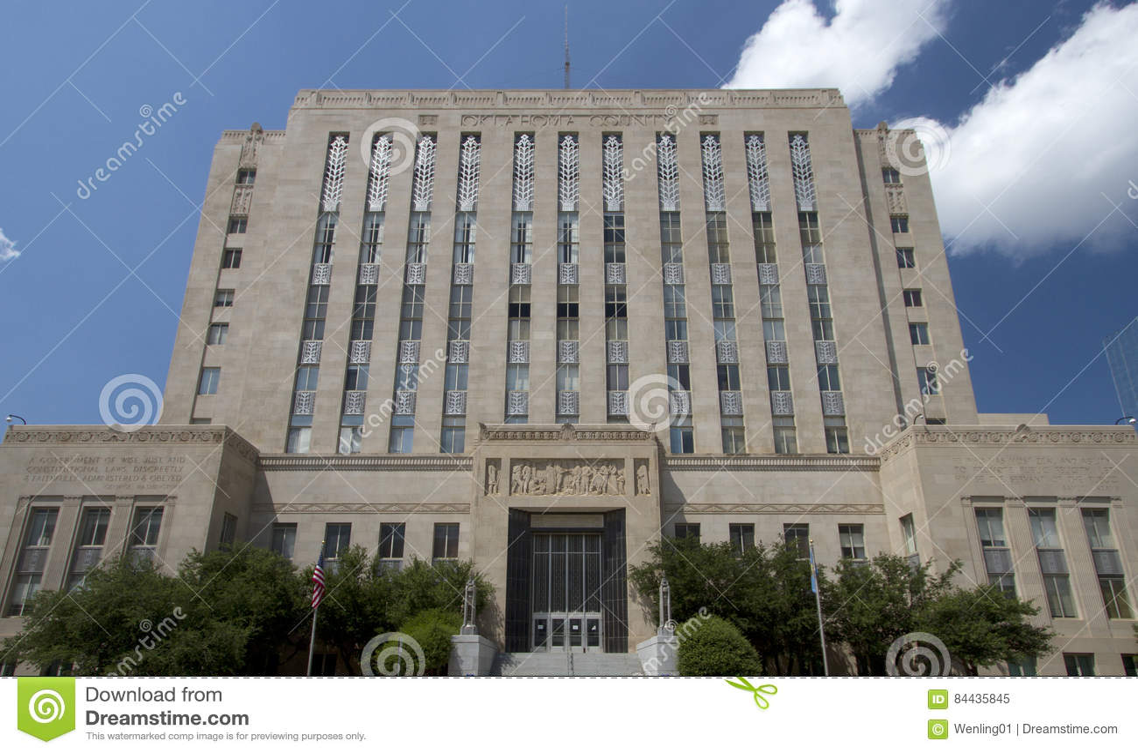Historyczni budynki w mieście Oklahoma