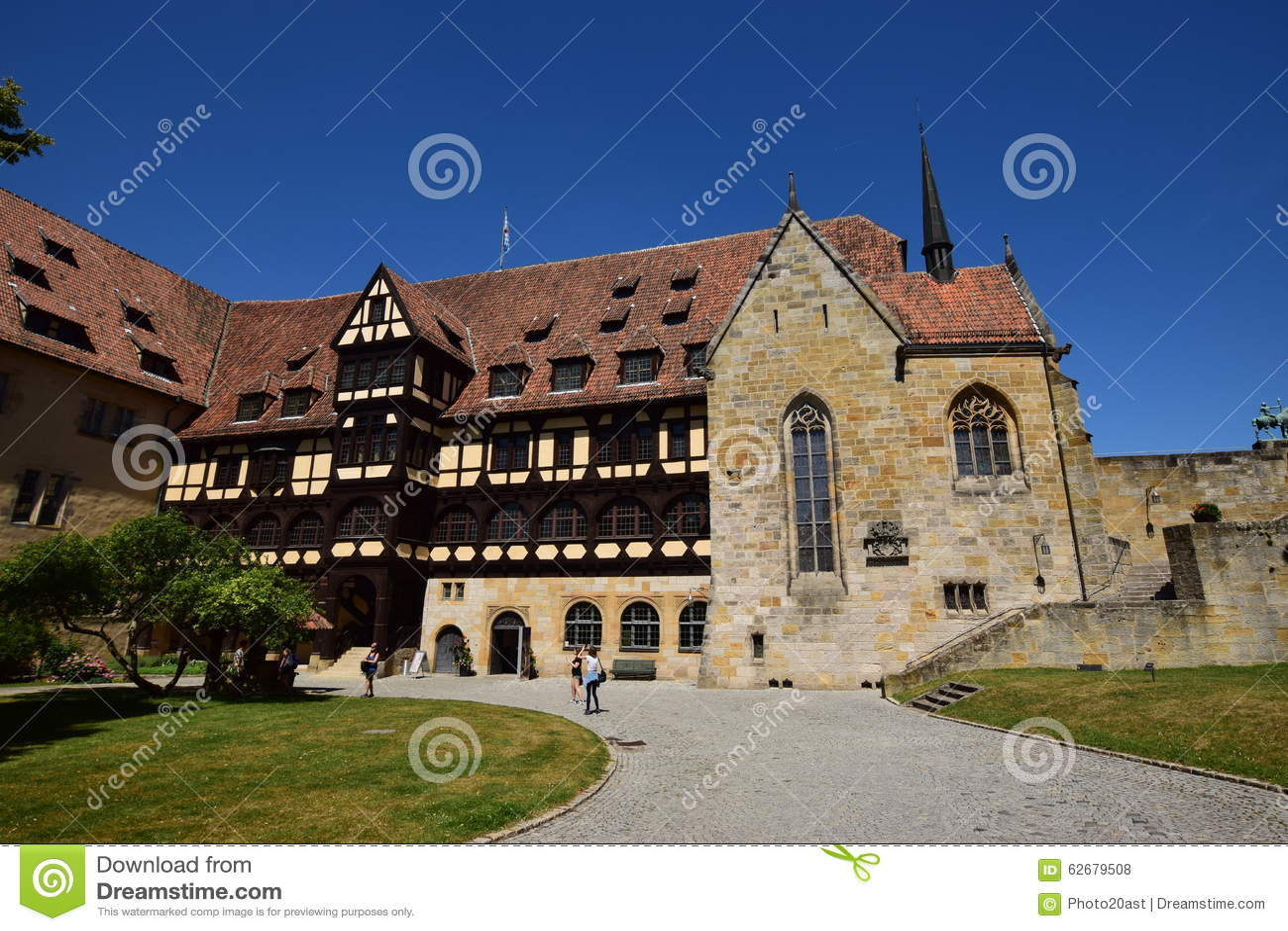 Historyczny budynek na VESTE COBURG kasztelu w Coburg, Niemcy