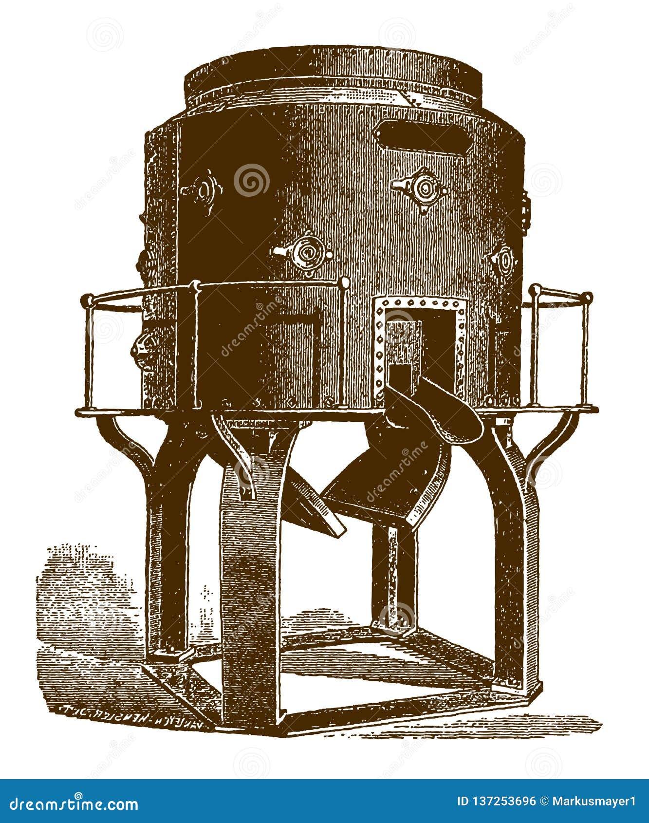 Historyczny cupola piec dla topić żelazo