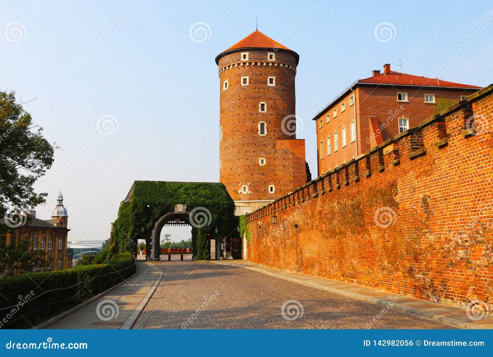Historyczny miasto Krakow w sercu Polska