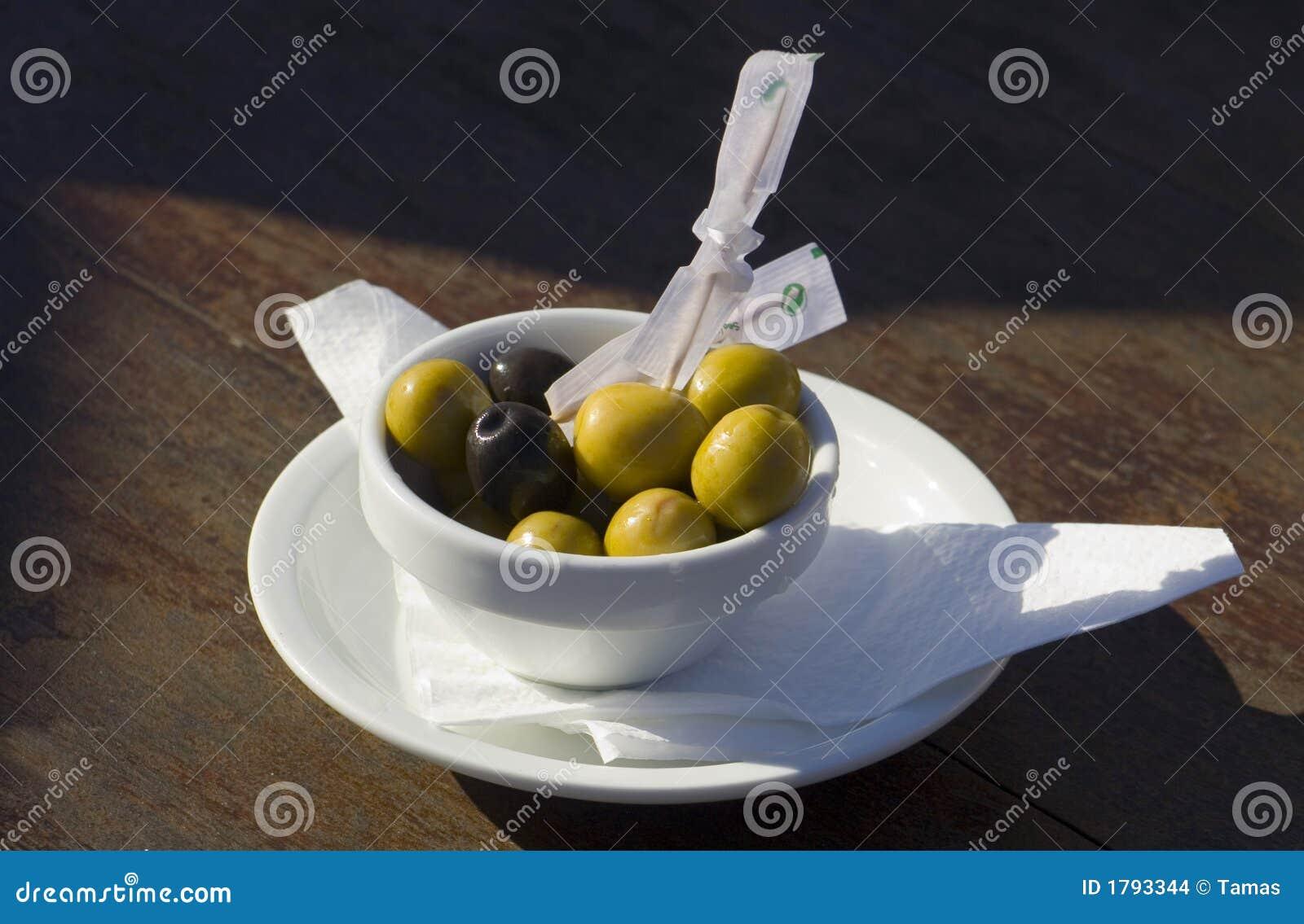 Hiszpańscy tapas oliwek