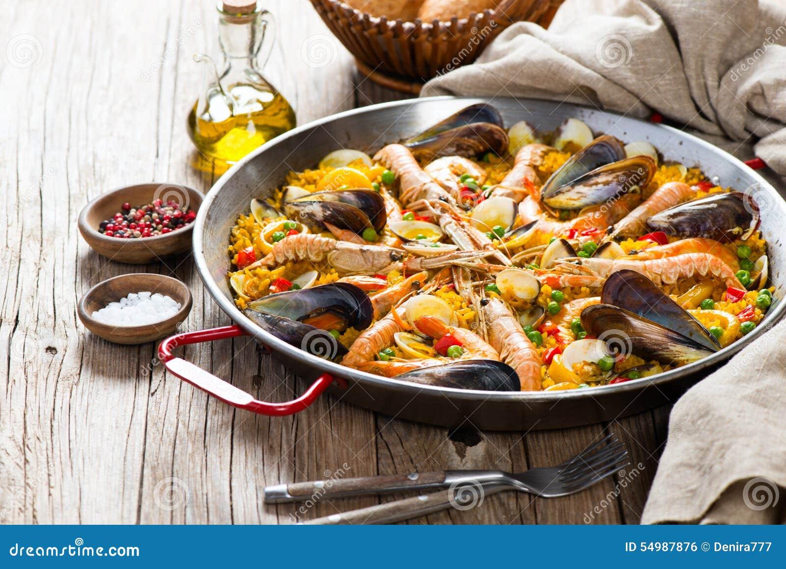 Hiszpański owoce morza Paella