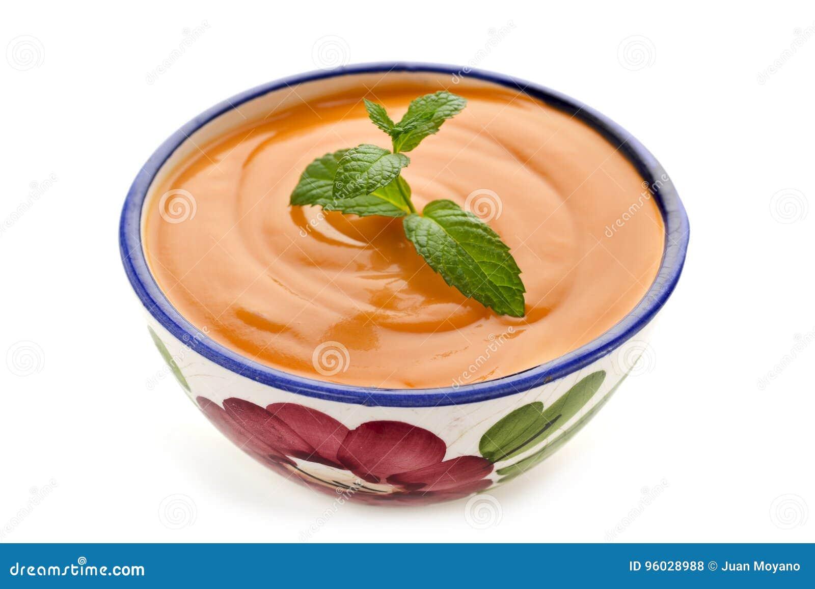 Hiszpański porra antequerana, zimna pomidorowa polewka