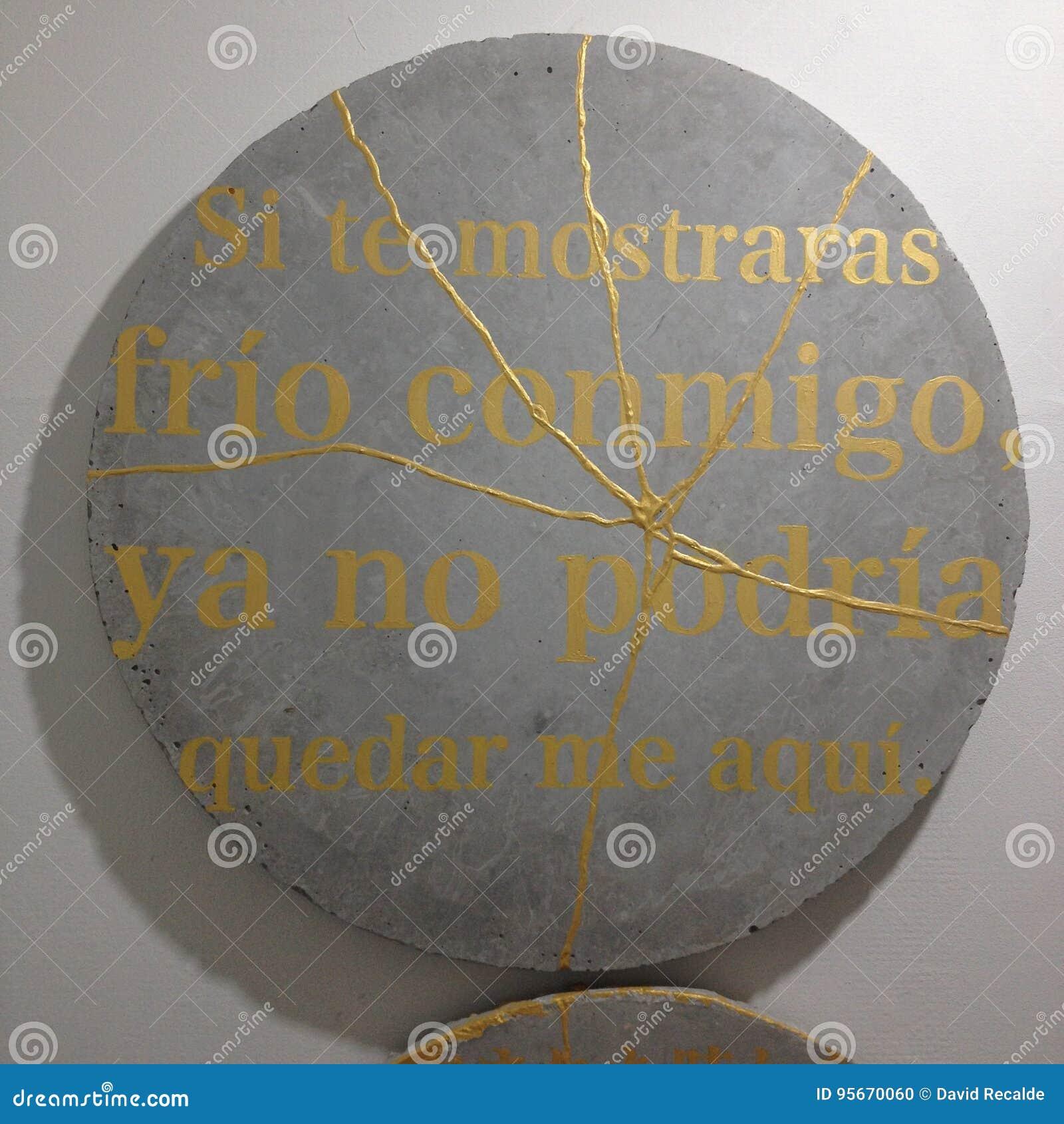Hiszpański Wiersz Zdjęcie Stock Obraz Złożonej Z Kamień