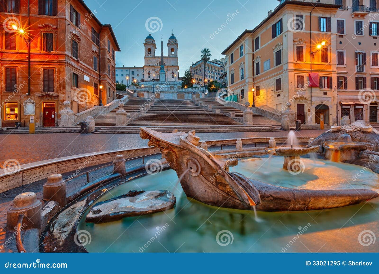 Hiszpańszczyzna kroki przy półmrokiem, Rzym