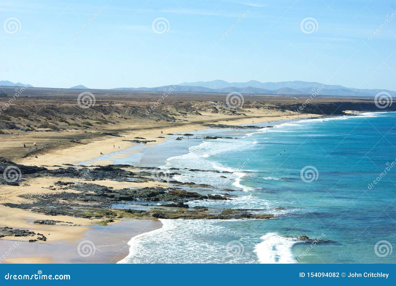 Hiszpania Hiszpańska wyspa Fuerteventura Ell Cotillo, Piedra plaża