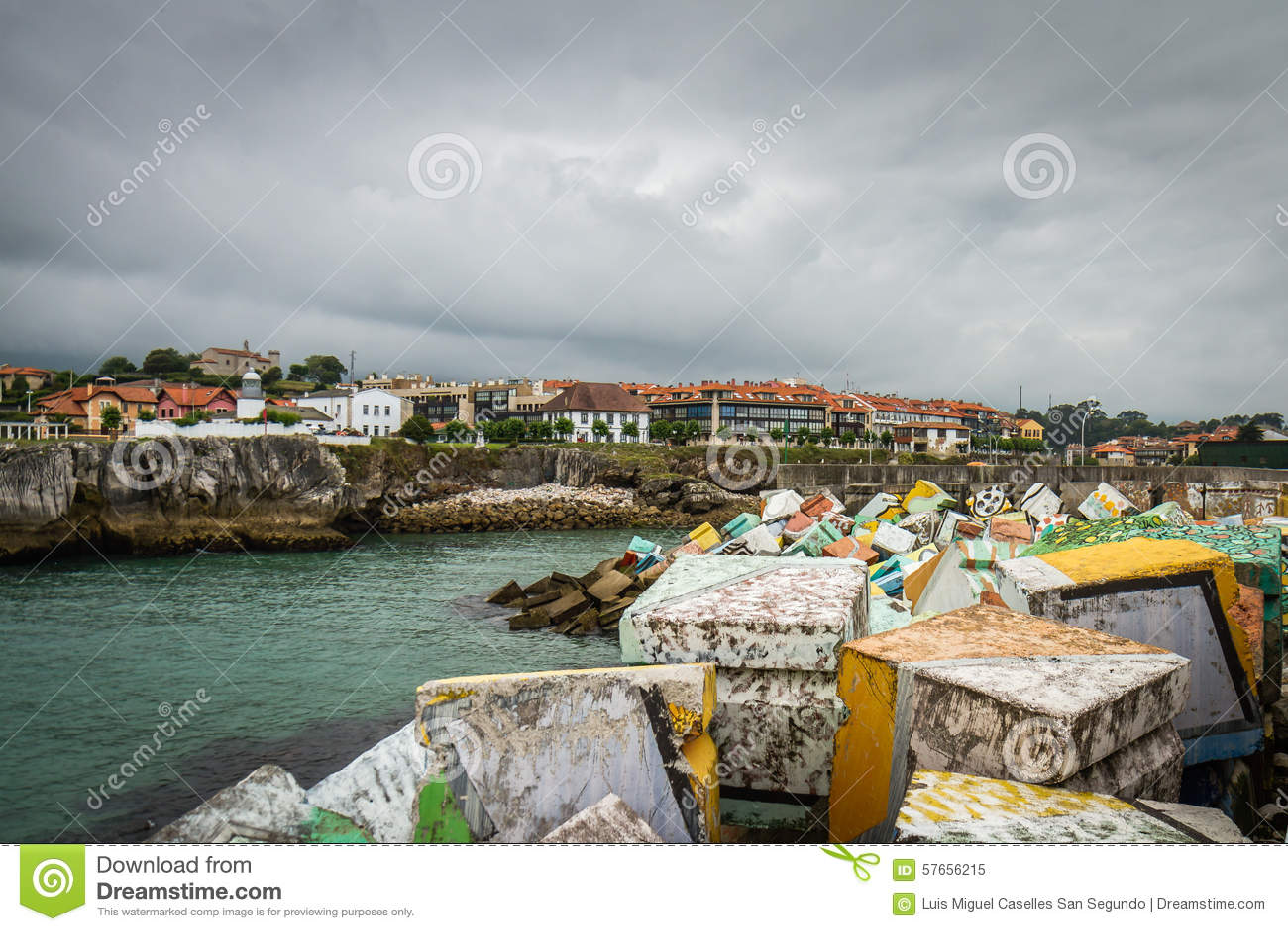 Hiszpania nadmorski wioska