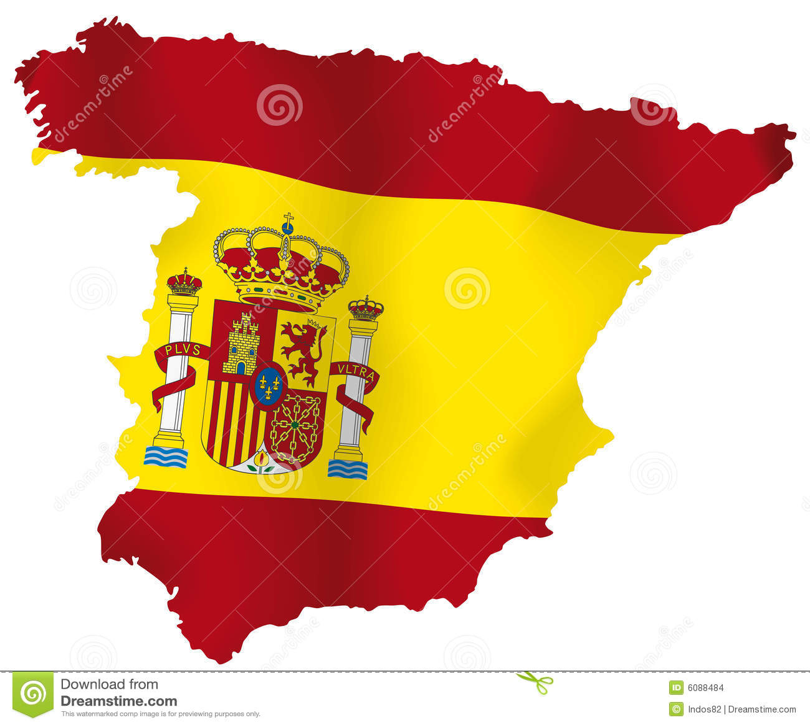 Hiszpania wektorowa mapa