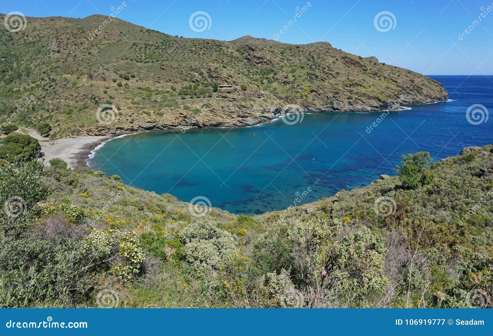 Hiszpania zatoczki Cala Joncols Śródziemnomorski Costa Brava
