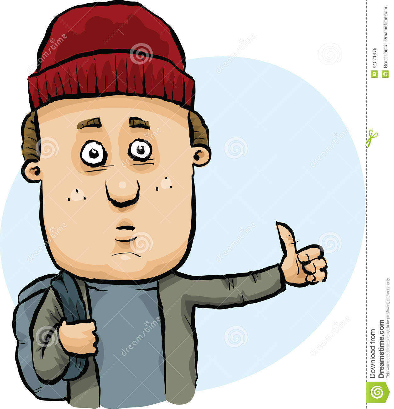 Image result for a cartoon of a hitchhiker
