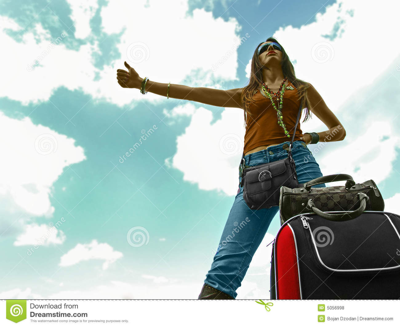Hitchhiking Woman