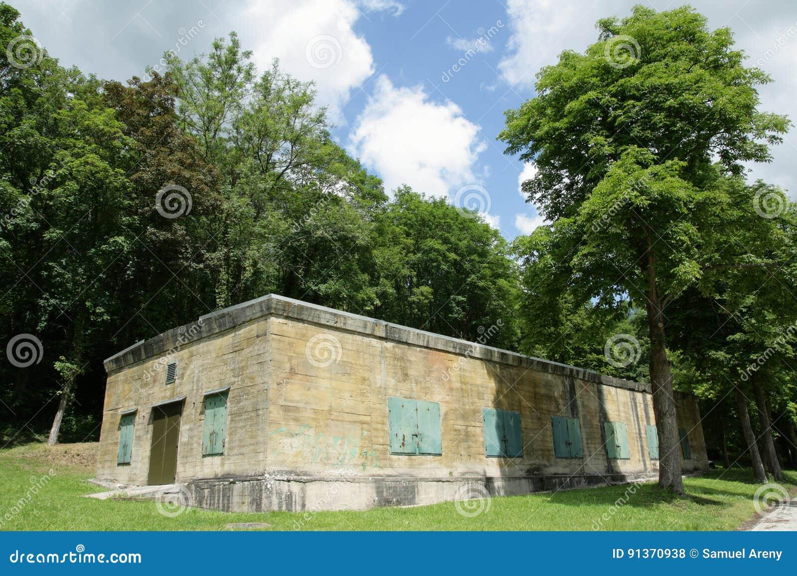 Hitler bunker in Margival, Aisne, Picardie in het noorden van Frankrijk