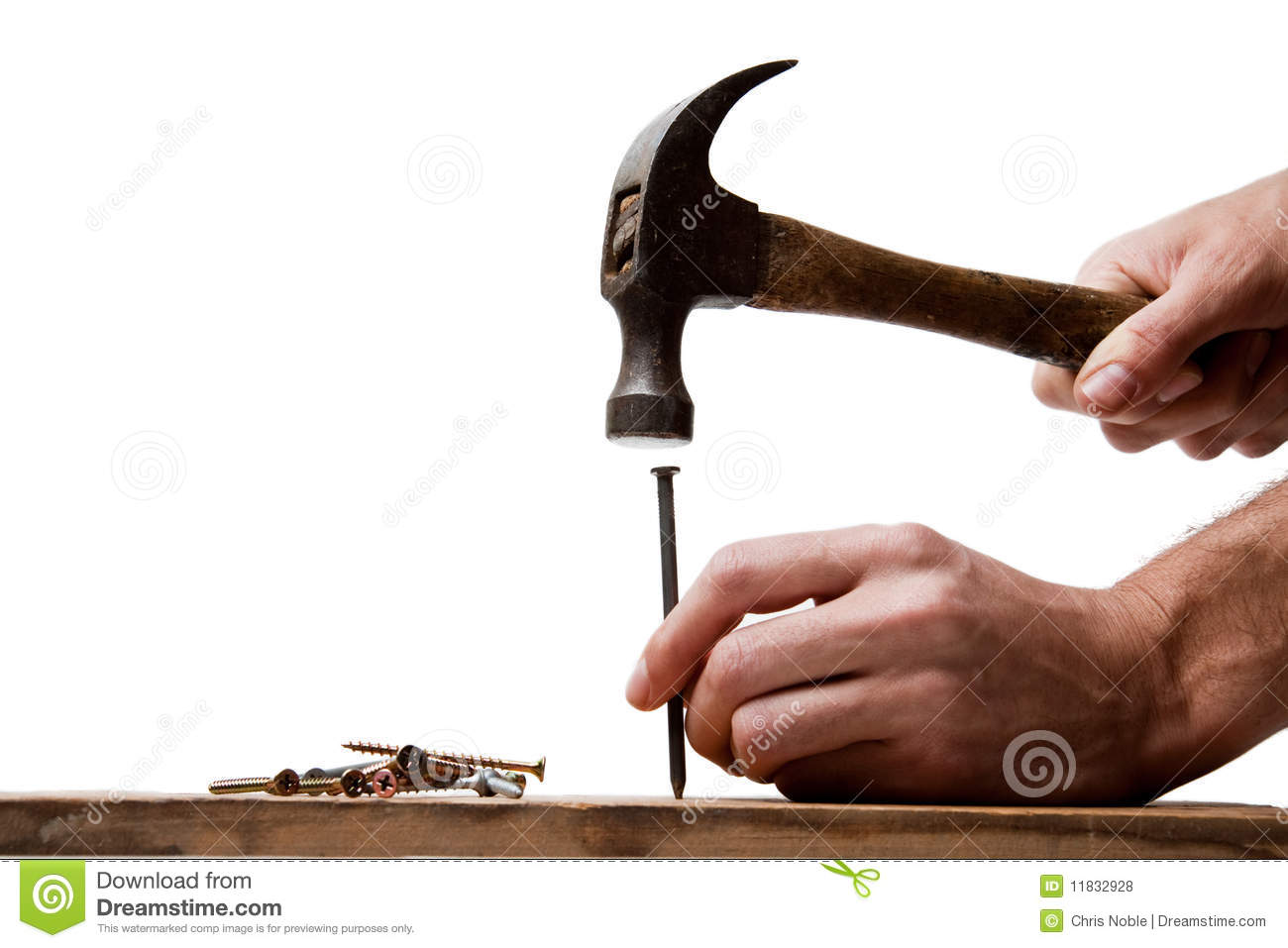 Hitting The Nail On The Head Stock Photo - Image of builder, whack ...