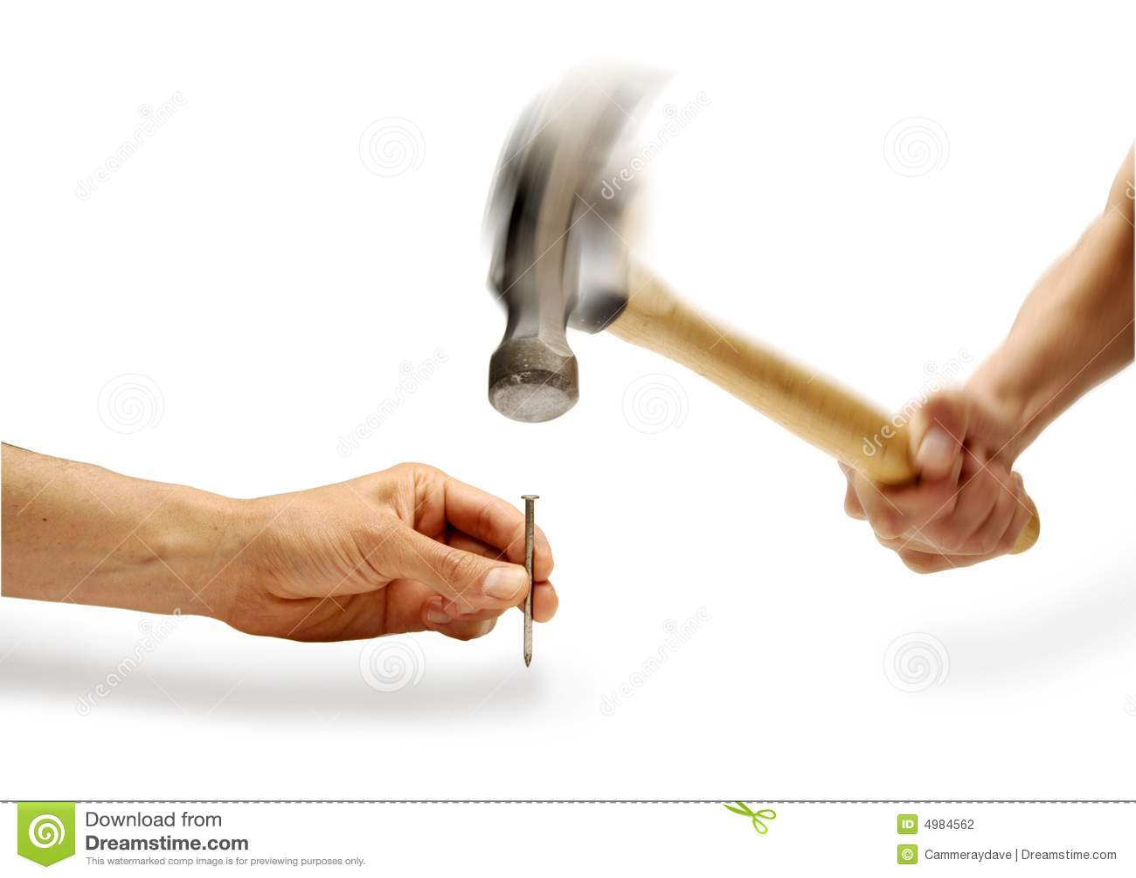 hammer hand nail holding stock photo image of swinging