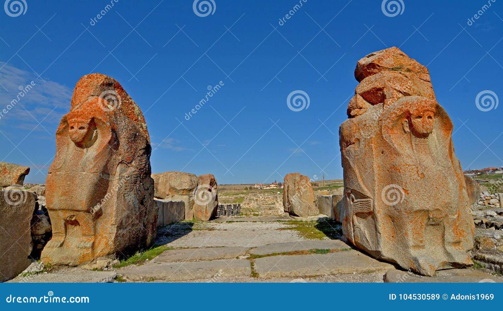 Hittite miasto Alacahoyuk w Turcja