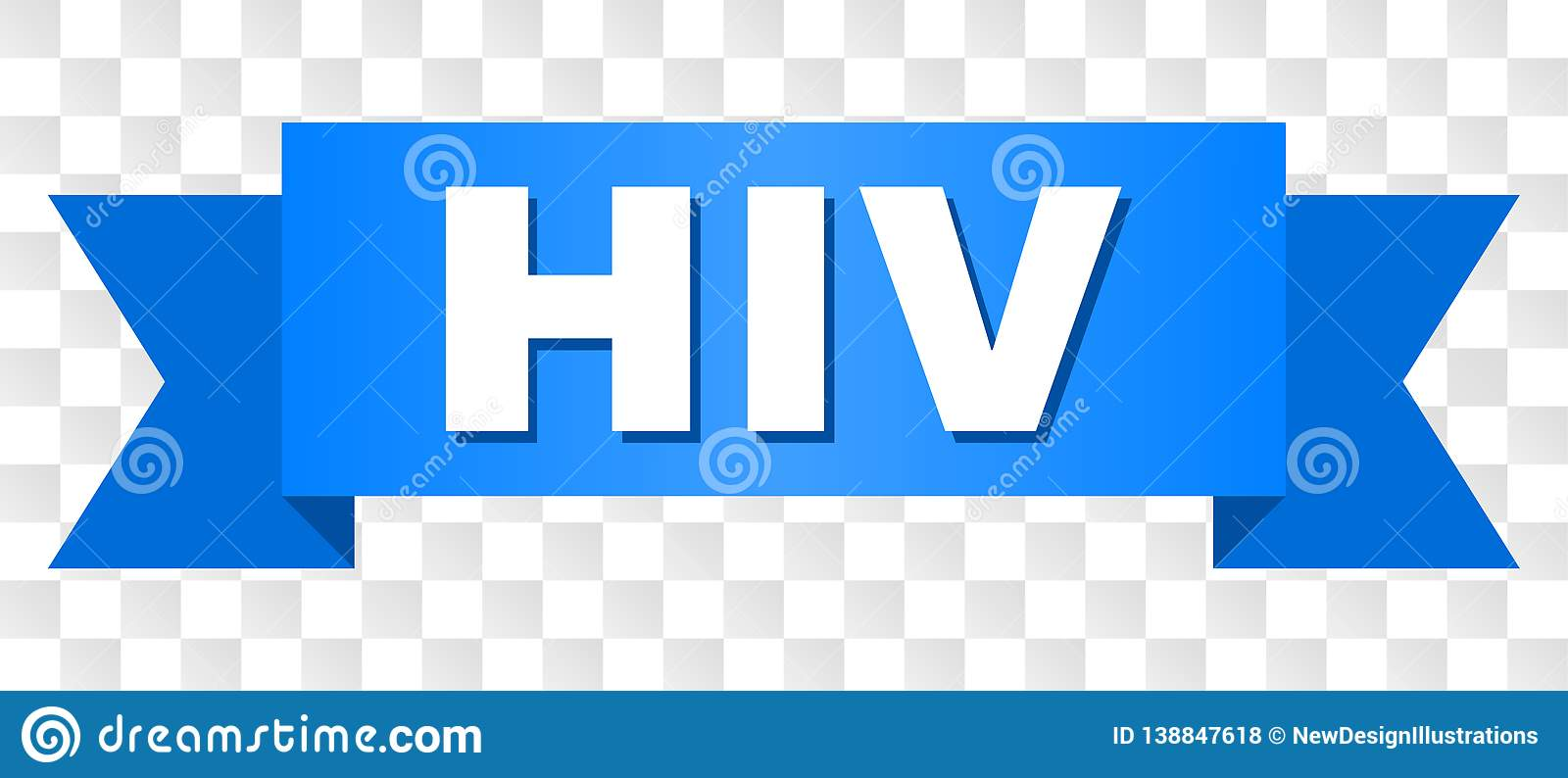 Blue Stripe with HIV Text